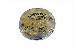 Gold Inlay Live To Ride Points Cover For Harley Davidson 1970-98 V-twin 42-0088