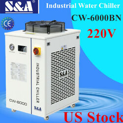 Usa 220v Sanda Cw-6000bn Industrial Water Chiller For 22kw Cnc Spindle Cooling