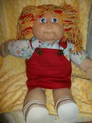 Custom Rerooted Reroot Yellow Red Lion Mane Hair Cabbage Patch Kid Baby Doll