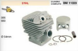 Cylinder And Piston Complete Chainsaw Stihl 066 660 Ø 2 1/8in
