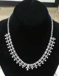 CLEARANCE!NEW WITH ORIG TAGS 77356 GORGEOUS 18KT LRG DIAMOND BAGUETTE NECKLACE