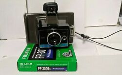 Vintage/used/untested Polaroid Colorpack Ii And 1 Pack Of Fujifilm Black And Whi