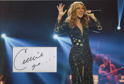 Celine Dion Signed 12x8 Photo Display My Heart Will Go On Coa