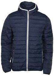 9 Crowns Menand039s Vinton Puffer Zip Up Hooded Jacket