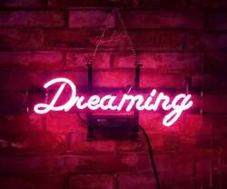 Pink Dreaming Eye-catching Gift Neon Sign Display Real Glass Handmade Neon Light