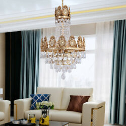 Exhibition Hall Chandelier Pendent Restaurant Lamps Fixtures Crystal Iron LED