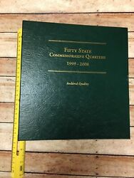 Fifty State Commemorative Quarters 1999-2008 Coin Album With 7 Quarters