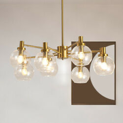 Modern LED Chandelier Exhibition Hall Iron Glass Ball Lighting Ceiling Fixtures