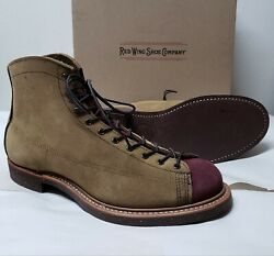 1st. Red Wing Heritage Boots Lineman 2997 Olive Maroon Mohave Iron Ranger 2996