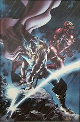 Marvel Fine Art Thor 80 Giclee Print Limited Edition Signed By Stan Lee