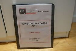 Beatles Topps Trading Cards -1965- Diary Series Complete Set 1a-60a