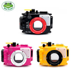 60m Seafrogs Underwater Camera Housing For Olympus Tg-5 Tg5 Black Pink Yellow