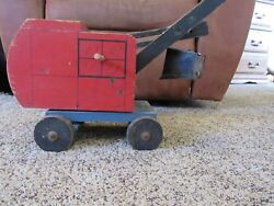 Rare Antique Tick Tock Toys Firestone Wooden Crane Toy From 1940s Vintage