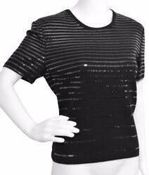 St. John Shiny Evening Black Top Size: 8 M New with tags $112.00