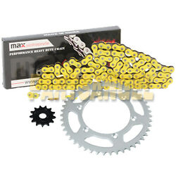Yellow Drive Chain And Sprocket Kit For 2001-2004 Yamaha Yz250f / 2005-2018 Yz125