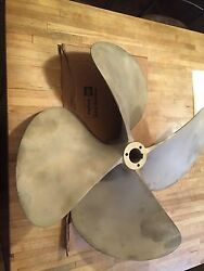 23.6x 31bronze 4 Blade Propeller 2andrdquo Bore Prop Right Hand Azimuth Av46