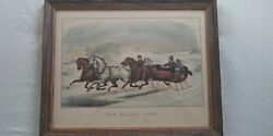 Currier And Ives Set Of Four Winter Scenes Good Condition