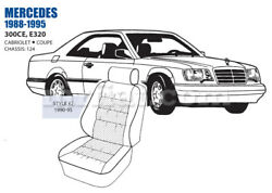 Mercedes 300ce Front Leather Seat Cover Set 90-95 Oem New