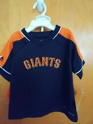 SF Giants 12 Months Toddler  MLB Majestic Jersey & Shorts Cool base fabric. NEW.