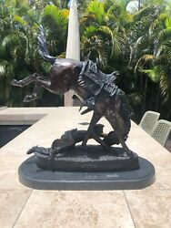 Vintage Frederic Remington Wicked Pony Regular Size Reproduction
