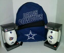 New Set Kids Dallas Cowboys Backpack Plus Big Sip Cup Player Or Youth Football