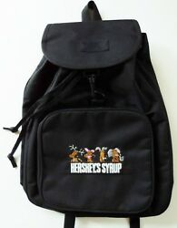 Hershey's Chocolate Syrup Characters Backpack Black Drawstring Pack Bag Tote