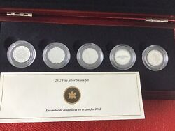 2012 Canada Farewell Penny 5silver Coin Proof Set
