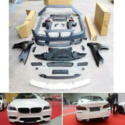 Front/Rear Bumper+Side Skirts+Fender Cover Trim For BMW 5-Series F10 F18ghs