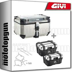 Givi Top Case Outback Obkn58a + Valises Laterales Trk46n Honda Nc 750 S 2015 15