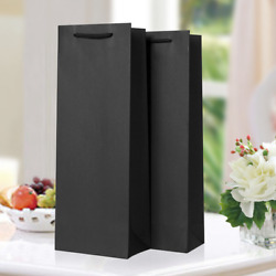 200x Black Wine Bottle Bags Carrier Presents Birthday Wedding Party Drinks Bag