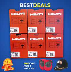 Hilti Gx 120 Or Gx Pins And Gas 6 Boxes 3/4 Pins Free Hat Fast Shipping