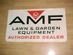 Mint Amf Dealership Sign - Double Sided - Red And Black On White - Pretty