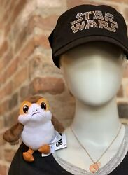 Disney Parks Star Wars Galaxyand039s Edge Shoulder Porg Plush Toy From The Last Jedi