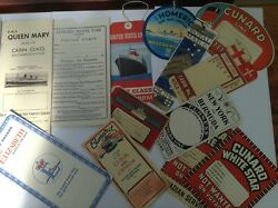 Collection Of Shipping Line Luggage Labels And Plans