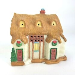 National Decorations Lighted Village The Christmas Carol Porcelain Town 10 Piece