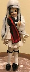Vintage European Doll From Greece Handmade Ethnicities Cultures