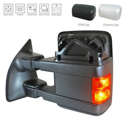 Textured Driver Side Mirror Power Power Folding Heated w/Signal 128-04291A