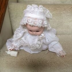 House Of Lloyd 1989 Musical Porcelain Baby Doll Blanket Baby Bottle And Rattle