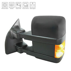 Textured Driver Side Mirror Power Power Folding Heated w/Signal 128-01503A