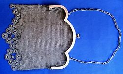 ANTIQUE BEAUTIFUL Bags MESH WITH Chain SILVER Bags ALL 232.2 gr $286.00