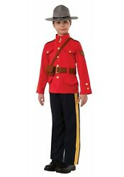 BOYS CANADIAN MOUNTIE COSTUME SIZE Small (USED)
