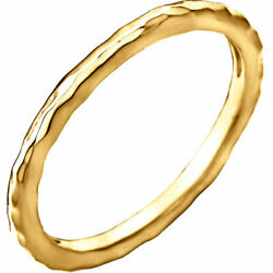 Lovely Solid Gold Jagged Edges Ring 14k Gold
