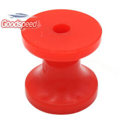 Ultimate 3 Red Poly Bow Roller Stop Boat Marine Trailer Shaft 1/2 Inch