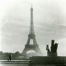 Photograph Print City Of Paris, France – Lonely Eiffel Tower | Signed Coa