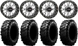 System 3 St-3 Machined 14 Wheels 30 Carnivore Tires Yamaha Grizzly Rhino