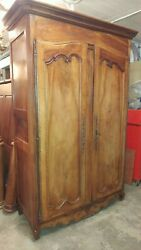 Large Antique Walnut Armoire / Wardrobe - Beautiful 1800and039s Made