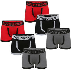 612 Pack Boys Novelty Boxers Kids AWESOME New Designer Seamless Underwear Short