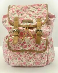 Laura Ashley Backpack Diaper Bag White Paisly $39.00