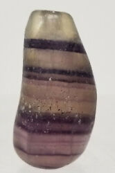 Antique Chinese Fine Pebble Fluorite Snuff Bottle Banded Stone Mineral
