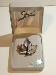 Galcier Pearle Storrs Maple Leaf Brooch fashion jewelry new in box